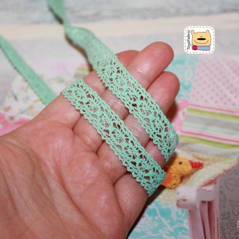 Кружево вязаное КХ5-М (мятное) 90см