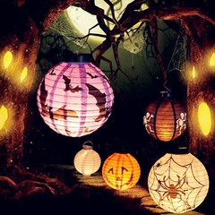 Ужасы декорация Фонарики бумажные — Halloween Decoration LED Paper Lamp