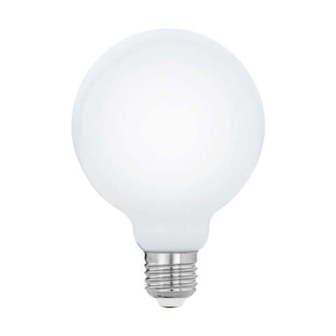 """Лампа  Eglo филаментная диммируемая """"Милки"""" опал. стекло LM LED E27 G95 2700K 11771"""