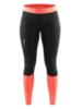 Женские тайтсы Craft Devotion Run 1903967-9825 черный-оранжевый