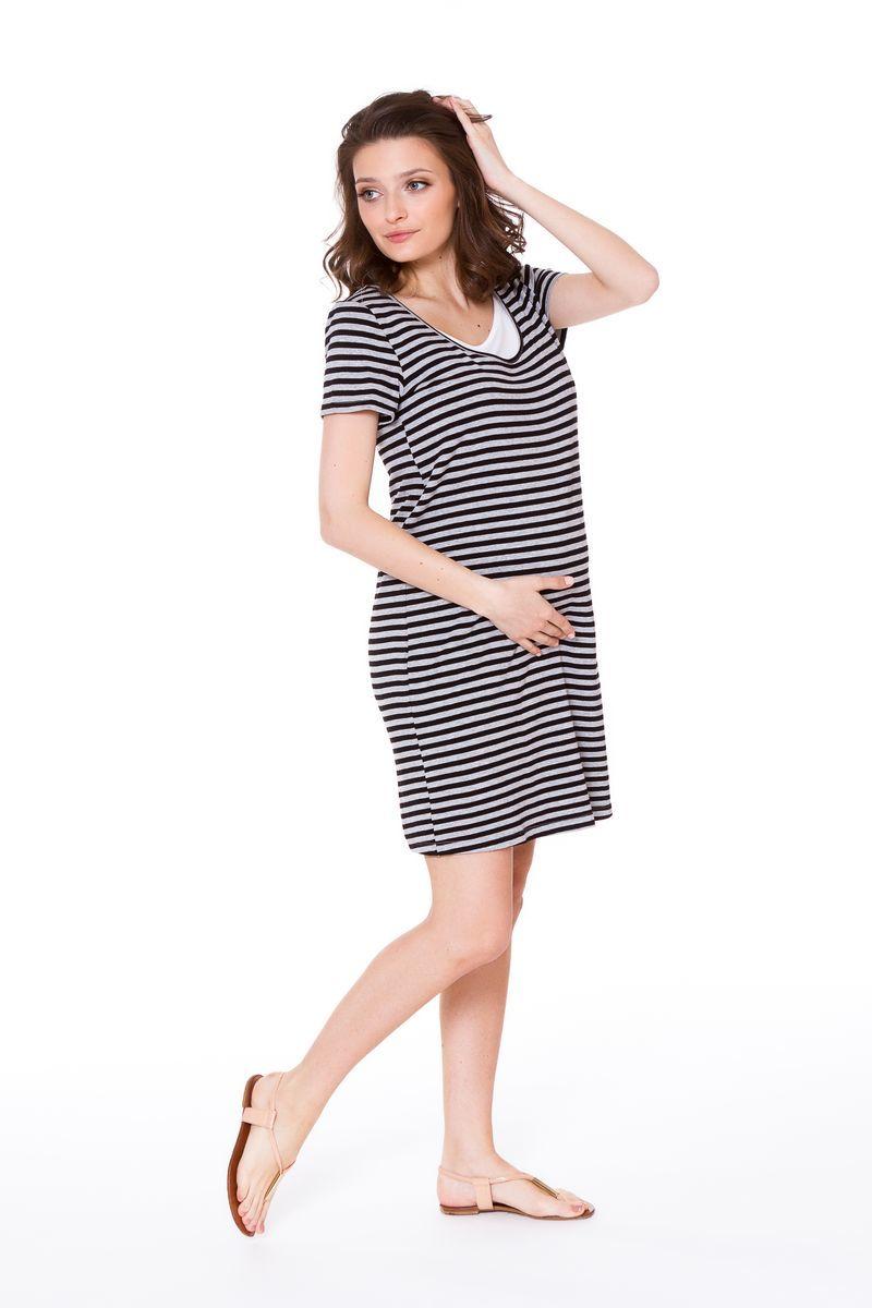 Платье 08681 серый