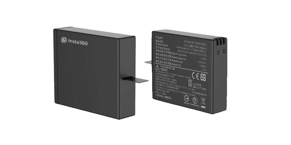 Дополнительный аккумулятор для Insta360 ONE X (Battery) с обеих сторон