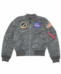 бомбер Alpha Industries L-2B NASA Gun Metal