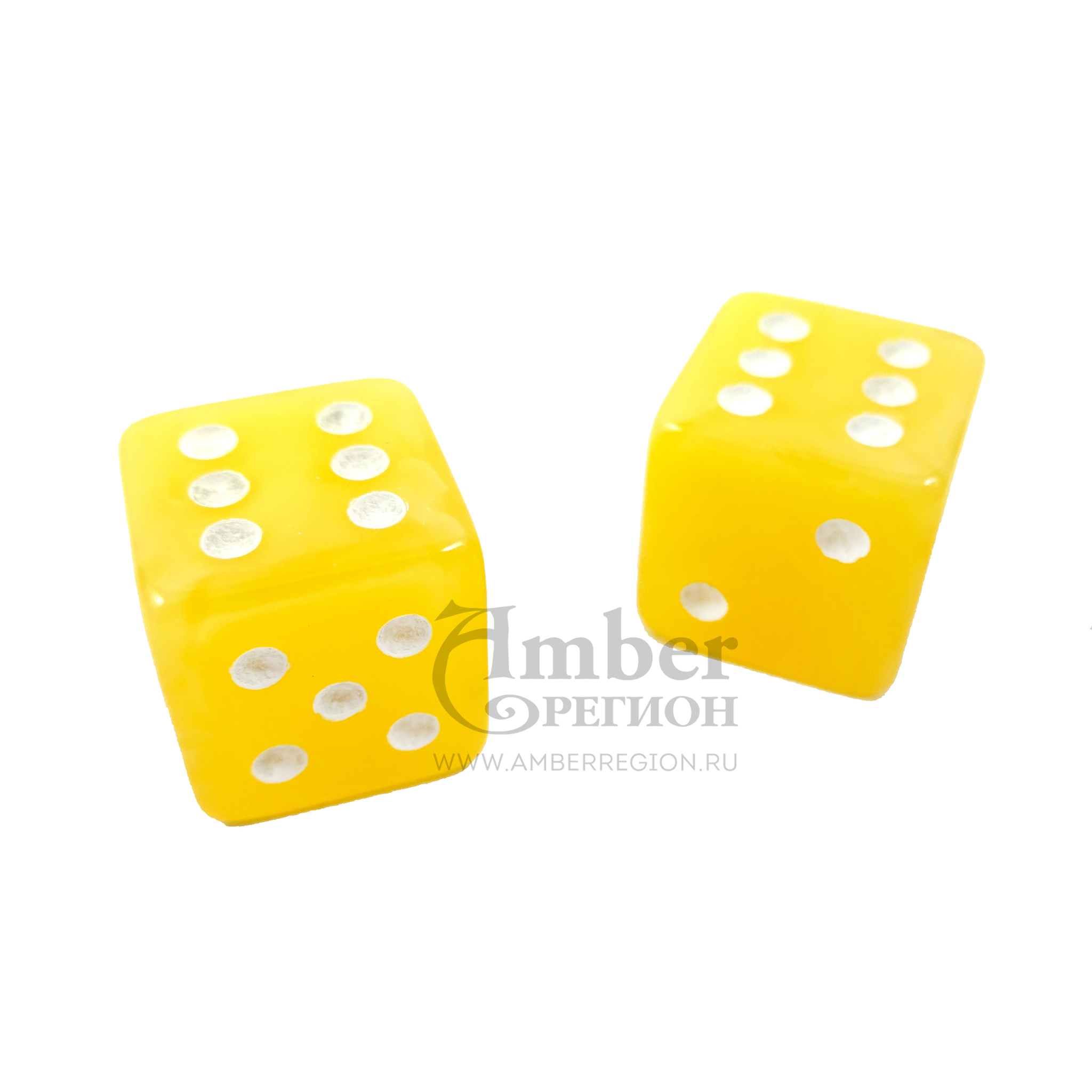 Янтарный кубик (матовый желтый)