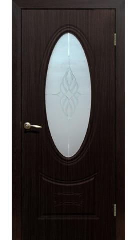 Дверь Сибирь Профиль Гармония, цвет венге, остекленная