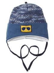 10056-4 шапка для мальчиков, синяя