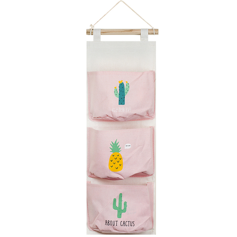Вешалка с кармашками Cactus Pink