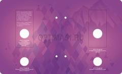 Разворот 4 Альбом для монет «Памятные монеты РФ посвящённые XXII Зимним Олимпийским Играм и XI Паралимпийским Зимним Играм 2014 года в Сочи» в футляре