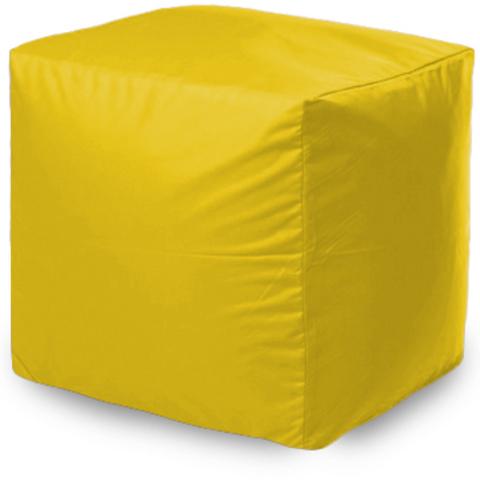 Квадратный пуфик Желтый