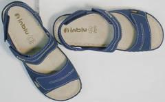 Летние босоножки женские спортивные на липучках Inblu CB-1U Blue.