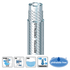 Шланг промышленный высокого давления Aquatech Cristallo (Refittex Cristallo) 8 х 2,5мм х 50м