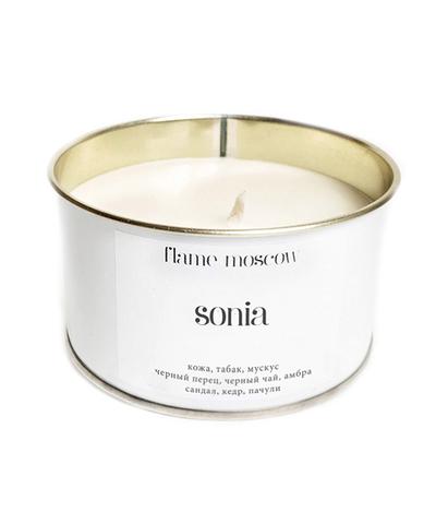 Свеча ароматическая в металле White Sonia, Flame