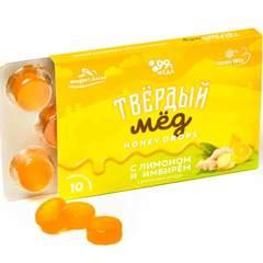 Твёрдый мёд с лимоном и имбирём купить в магазине Каша из топора