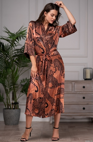 Длинный халат Mia Amore 5669 (70% натуральный шелк)