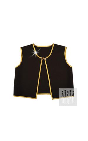 Фото Жилет европейский рисунок Рубашка для танцев для мальчика выполнена из белого креп-сатина. Ворот застегивается на пуговицу.