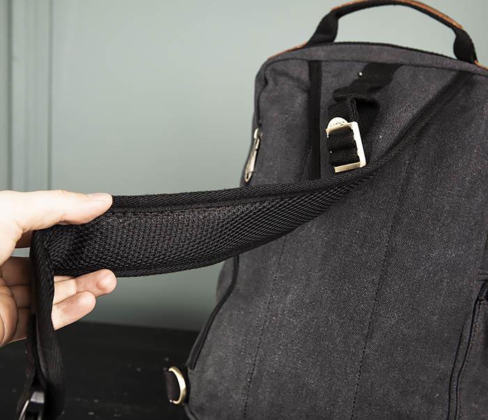 BAG394-1 Черный компактный рюкзак с одной лямкой через плечо фото 08