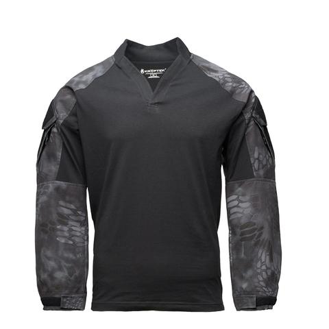 Толстовка KRYPTEK Tactical воротник Регби длинные рукава Black/Typhon™