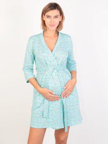 Евромама. Халат для беременных и кормящих на запах, мята