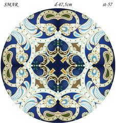 Эскиз для росписи, Круг диаметр-47,5см, SMAR-st-57