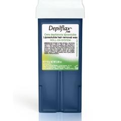 depiflax воск для депиляции кассета 110 г. азуленовый blue для всех типов кожи