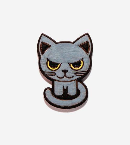 Брошь Злой Котик