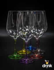 Набор из 6 цветных бокалов для вина GASTRO Арлекино, 350 мл