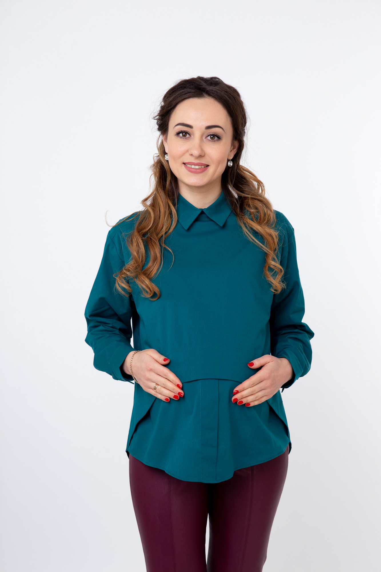 Блузка 08922 зеленый