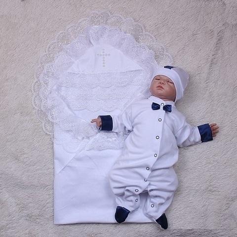 Набор для крещения Любовь Корсар (белый)