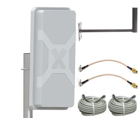 Антенный комплект Nitsa-5F MIMO с кабельными сборками и пигтейлами для модемов