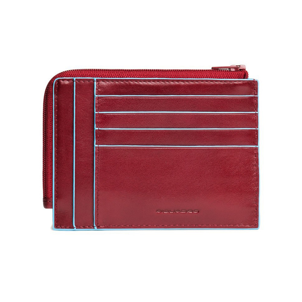 Чехол для кредитных карт Piquadro Blue Square, цвет красный 12,5x9x1 см (PU1243B2/R)