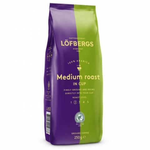 Кофе молотый Lofbergs Medium Roast 250 гр