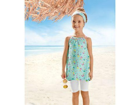 Комплект для девочки платье+легинсы+оголовье Lupilu