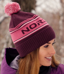 Шапка теплая Nordski Stripe Violet