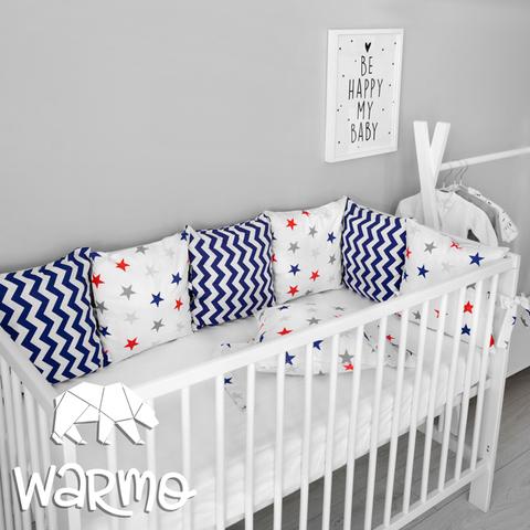 Набір бортиків-подушок в ліжечко 30x30см СУПЕРСТАР