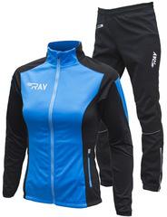 Утеплённый лыжный костюм RAY Pro Race WS Light Blue-Black 2018 женский