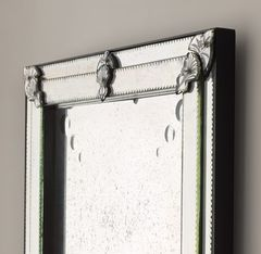 19th C. French Layered Glass Leaner Mirror