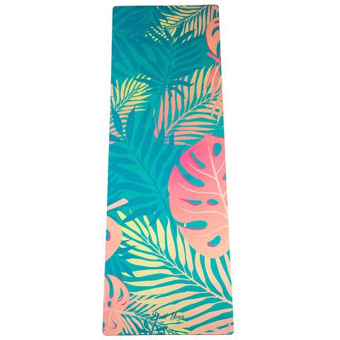Коврик для йоги Тропический 183*61*3,5мм из микрофибры и каучука