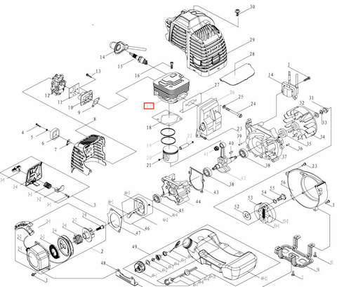 Цилиндр для лодочного мотора T3,5 Sea-PRO