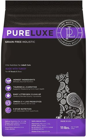 PureLuxe Elite Nutrition for adult cats with turkey