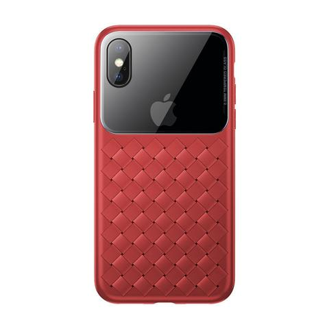 Чехол iPhone XS Baseus Weaving Case /red/