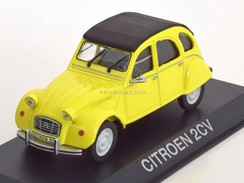 Citroen 2CV yellow-black 1:43 DeAgostini Masini de legenda #62