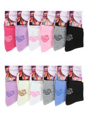 B62 носки женские 36-41 (12шт), цветные