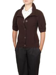 KR115-6 жакет женский выс. ворот, дл. рукав, коричневый