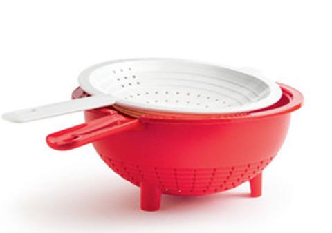 двойной дуршлаг Tupperware в красном цвете