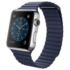 Часы Apple Watch 42мм (синий кожаный с магнитной застежкой)