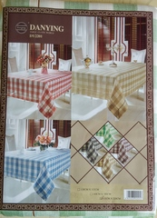 Скатерть на стол Зеленая прямоугольная 152х220