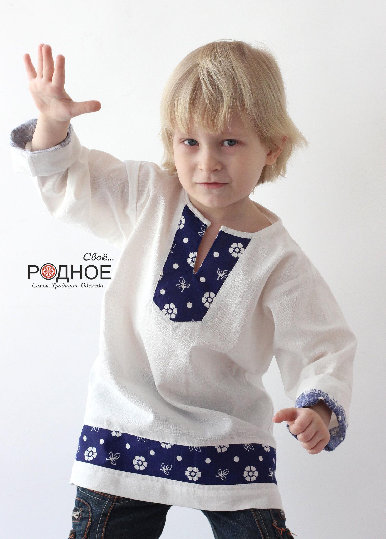 Рубаха на мальчика в русском стиле Утицы Свое... Родное для Иванка