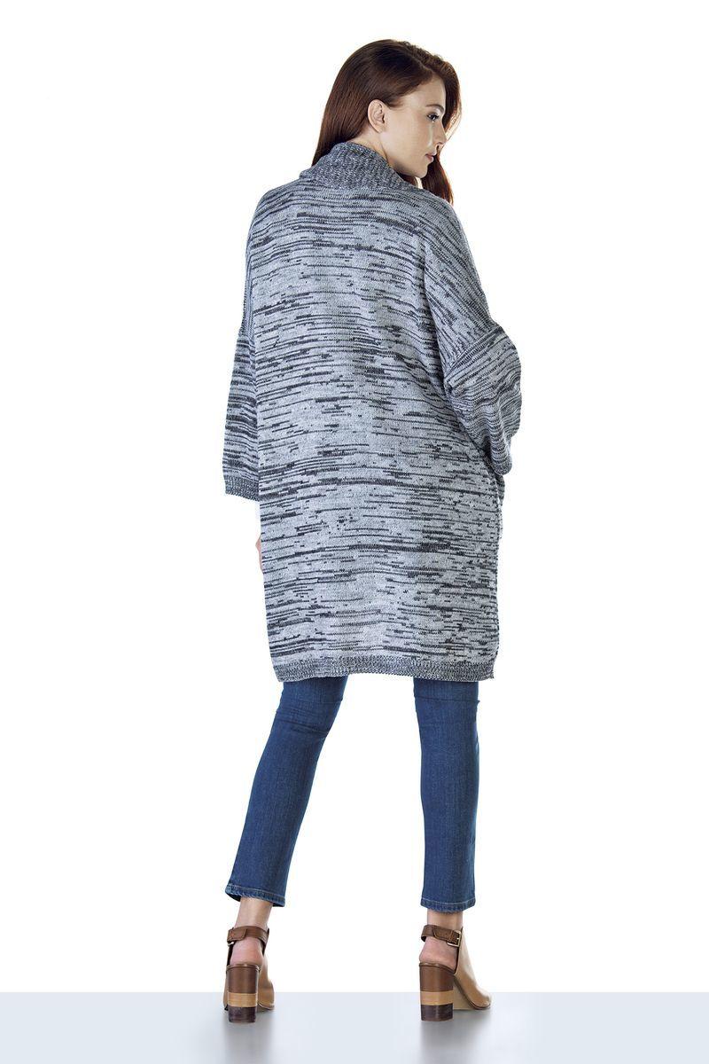 Кардиган 07815 серый