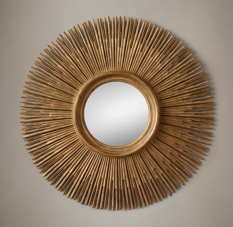 17th C. Round Sunburst Mirror