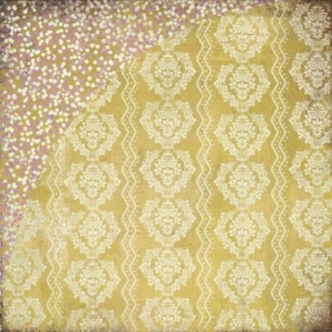 Бумага для скрапбукинга Yellow walpaper